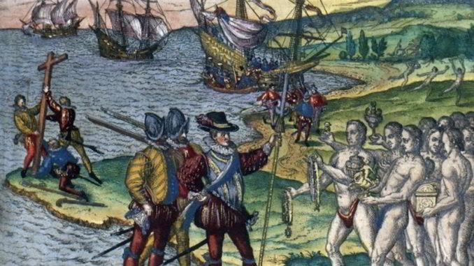 Colombo incontra i Taínos