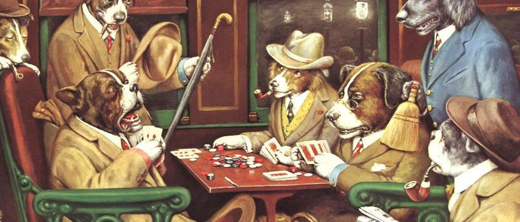 Cani giocano a poker